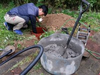 기초 시멘트작업