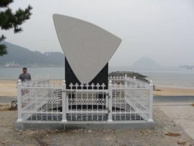 상주해수욕장(밤배 노래비 플레이어/가든 스피커)