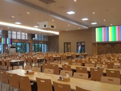 효성 창원공장 식당 방송장비