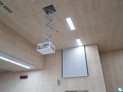 창원국제사격장 프로젝터 및 스크린 TV설치