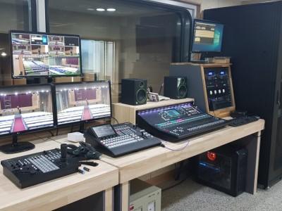 현풍 대주기계 대강당 음향,회의용마이크 설치