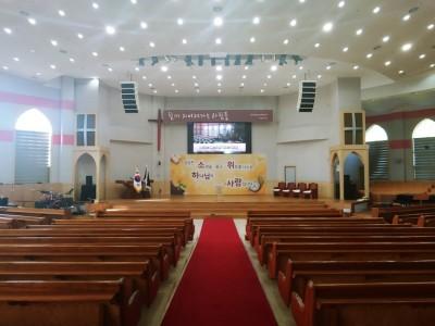 영천 충성대교회 LED스크린