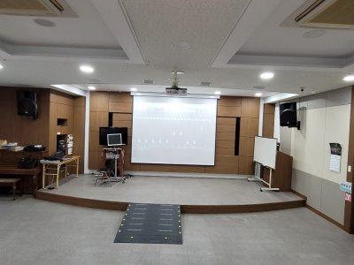 금강노인종합복지관 음향 및 영상장비 설치
